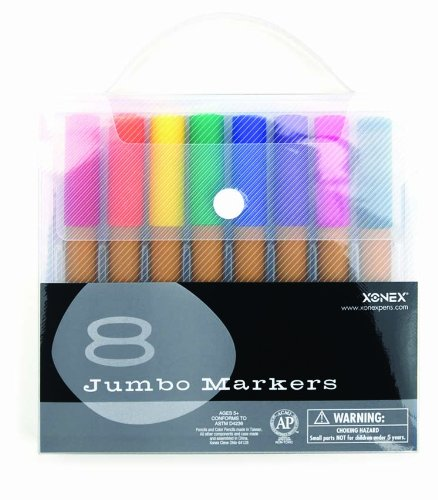 xonex-snap-case-art-supplies-jumbo-markers-8pc-1-count-30132-by-onex