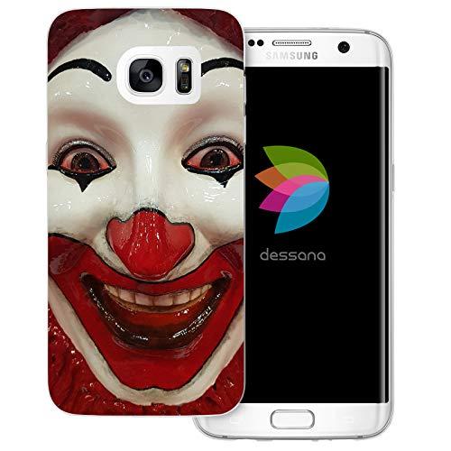ty transparente Schutzhülle Handy Case Cover Tasche für Samsung Galaxy S7 Edge Clown Maske ()