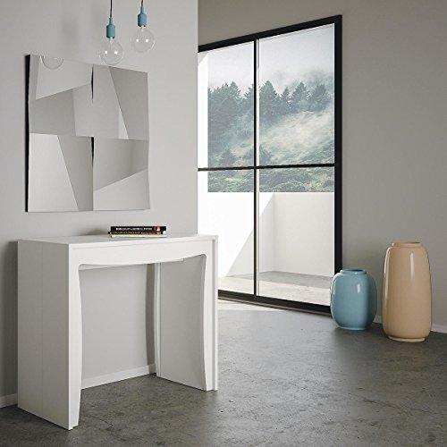 Pulcinella Group Design Console laquée Blanc Mat L.90 x P.42 x H.78 à 302 cm