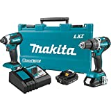 Makita XT269R 2 Amp 18V Compact LXT Lithium-Ion Brushless Cordless Combo Kit