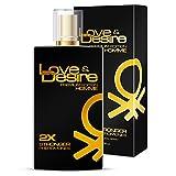 Love & Desire Gold Premium Edition FEROMONI PER GLI UOMINI 100ML impressionante NUOVA FRAGRANZA. vincere bella donna 4pheromones in 1Perfume.