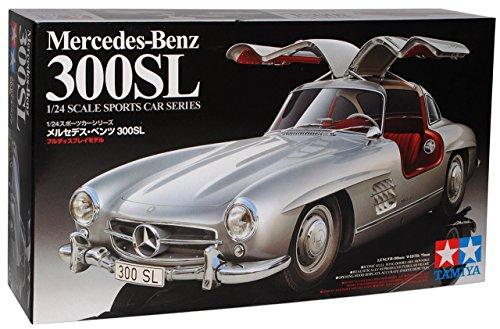 Mercedes-Benz 300SL Coupe Silber W198 1954-1963 Flügeltürer Kit Bausatz 24338 1/24 Tamiya Modell Auto Modell Auto
