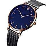 Kingwo Women's Watches, Wristwatch Mens Womens Fashion Classic Gold Geneva Quartz Stainless Steel Wrist Watch (Golder)