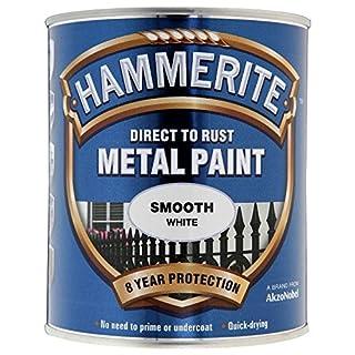 Hammerite HAM6720201 250ml Metal Paint - Smooth White