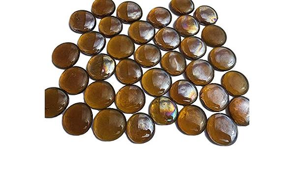 CRYSTAL KING Mischung Bunte Glassteine Nuggets 3,5cm 300g Dekokugeln Flach Glasdeko Glask/ügelchen Tischdekoration Vasendeko F/üllung Glassteine bunt