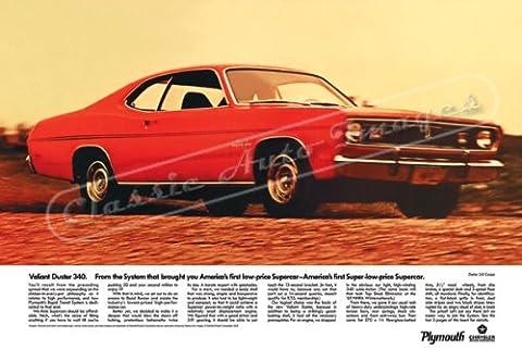Classique et musculaire ADS et voiture Art 1970Plymouth Duster numérique & re-mastered AD voiture Poster imprimé
