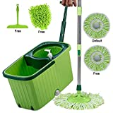 Smile Mom Magic Spin Mop with Bucket Set Offer with Easy Wheels