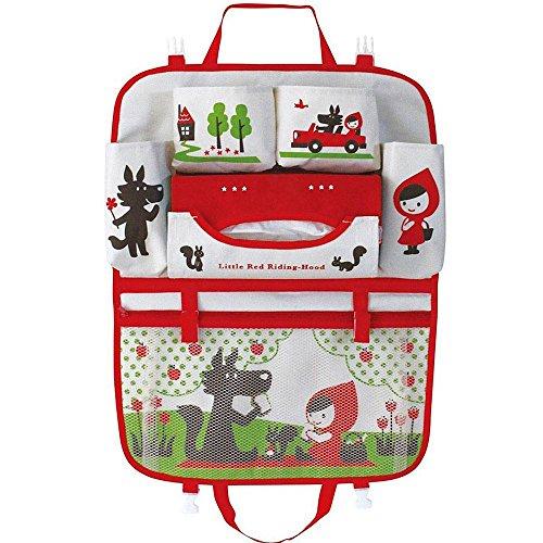 Cartoon Rücksitz Auto Organizer für Kinder, Babys & Kleinkinder Reisezubehör Kinder Spielzeug Lagerung, Rückenlehnenschutz