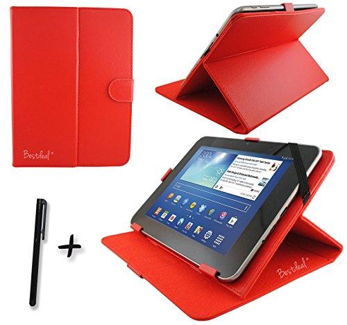 Rot PU Leder Cover Case Protector & Ständer für Acer Iconia One 10b3-a3025,7cm Zoll Tablet PC + Eingabestift
