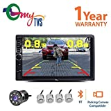 #7: myTVS TAV-40 HD Touch Screen Car Stereo Media Player with Bluetooth/USB/MP5/MP3 +8 LED Reverse Parking Camera+ Silver Reverse Parking Sensor Kit