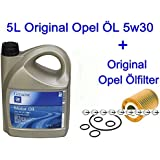 5L Original Opel ÖL DEXOS2 Mokka Signum Vectra C Zafira B 1.4 1.6 1.8 + Ölfilter