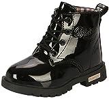 PPXID Garçon Fille Bébé Waterproof Durable Boots,Chaussures à Lacets-Noir 22...
