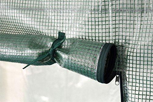 Foliengewächshaus für Tomaten/Gemüse – verstärkte Folie – Seitenfenster