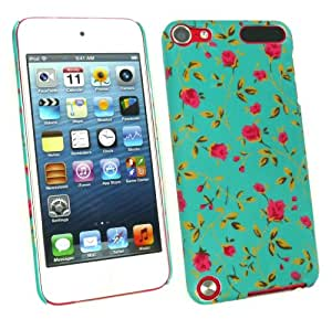 Emartbuy® LCD Screen Protector And Rose Garden Clip On Protection Case/Cover/Skin For Apple Ipod Touch 5 ( 5th Generation )
