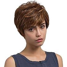 Amazon.co.uk: real hair short wig