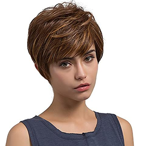 Victoria Costume - Mufly Perruque Courte Wig Fibre Synthétique Vague