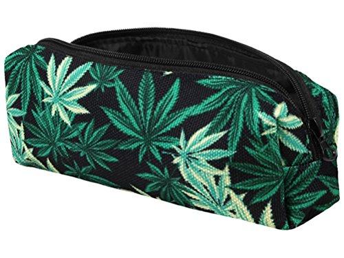 Cannabis Hanf Marijuana Federmäppchen Stifte Tasche Etui