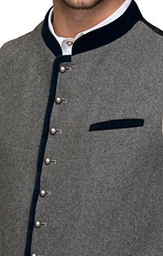Michaelax-Fashion-Trade Stockerpoint - Herren Trachten Weste in verschiedenen Farben, Alonso, Größe:48, Farbe:Grau-Nachtblau - 4