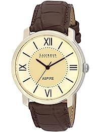 Laurels White Color Analog Men's Watch With Strap: LWM-ASP-010901