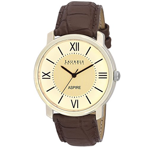 Laurels White Color Analog Men's Watch With Strap: LWM-ASP-010901