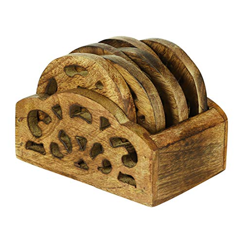 Untersetzer aus Holz, rustikal, 6 Stück, für Getränke, Tee, Kaffee, Wein, Bier, Untersetzer, Küche, Bar, Esszimmerzubehör -
