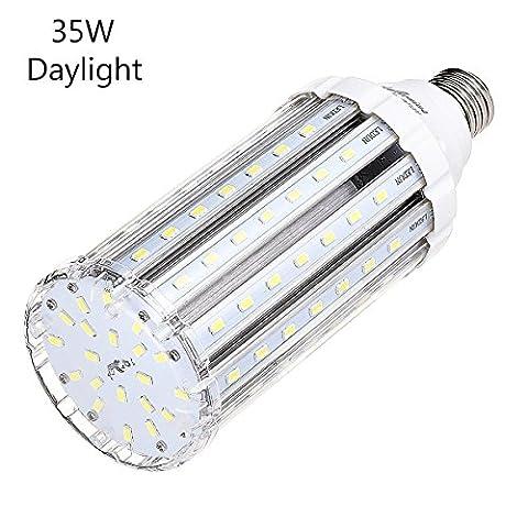 Ampoule Led Mais E27 35W Blanc Froid équivalent à 250-300W,Lampe Led Puissante 220V 3500LM 6000k,Super Lumineux Pour Exterieur Intérieur Grande Pièce Garage Entrepôt Terrasse Angle de diffusion