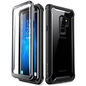 i-Blason Clear Bumper Case with Built in Screen Protector for Samsung Galaxy S9+ (Black)