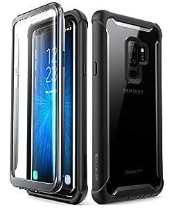 i-Blason Coque Samsung S9+ Plus, Coque Intégrale Anti-Choc avec Dos Transparent et Protecteur d