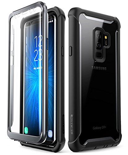 i-Blason, Custodia Rigida Trasparente con Protezione Dello Schermo Integrata Ares per Samsung Galaxy S9 Plus 2018, Nero