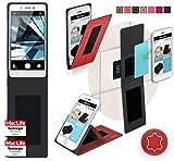 Oppo Mirror 5s Hülle Cover Case in Rot Leder - innovative
