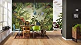 Komar xxl4-031 368 x 248 cm'Into the Wild Tropical Rain Forest Scenic' Papier peint - Vert (Lot de 4)