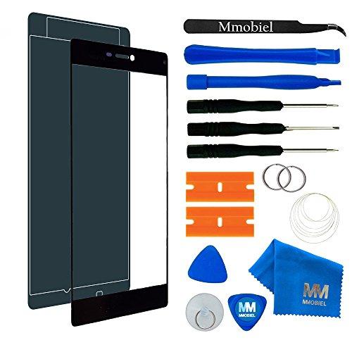 MMOBIEL Kit de Reemplazo de Pantalla Táctil para Huawei P8 (Negro) Incluye Pantalla de Vidrio/Cinta Adhesiva de 2 mm/Kit de Herramientas/Limpiador de Microfibra/Alambre Metálico