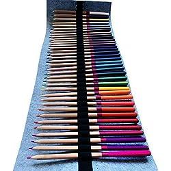 CrewbieStore 36 lápices de colores | Dibujo y colorear | 36 lápices de colores de grado artístico en un envoltorio protector | Soporte para lápices de calidad