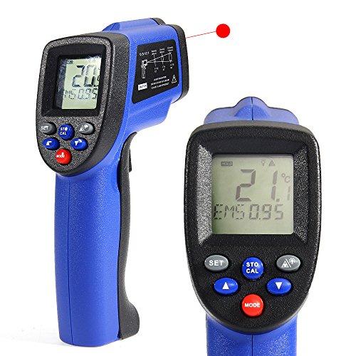 COLEMETER Laser Infrarot Thermometer, Pyrometer - 50 bis + 900 °C mit EMS Technik Temperaturmessgerät Infrarot-Messung Temperaturmesser Temperatur Messgerät Laserpointer