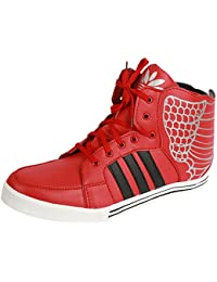 APPE Tango Men's Casual Ankle Length Red & Black Lace-Up Style Shoes