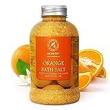 Sel de Bain Orange 600g - Sel de Mer avec Naturelle Huile Essentielle de Orange - Meilleur pour un Bon Sommeil - Beauté - Soin du Corps - Détente - SPA...