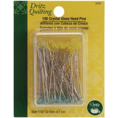 Quilting Kristall Glas Kopf pins-Size 30100/Pkg ()
