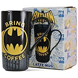 Batman de Latte Macchiato de taza, para los fans de Batman, cerámica, 475ml