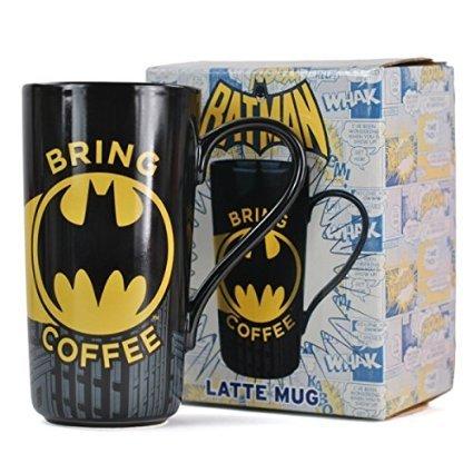 Batman Latte-Macchiato-Tasse, für alle Batman-Fans, aus Steingut, 475 ml (Latte Macchiato Tasse)