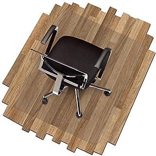 Transparente Bodenschutzmatte in zahlreichen Größen | passgenauer Schutz von Hartböden | Unterlegmatte unter Bürostühle, Fitnessgeräte etc. (100x100cm)