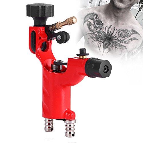 Tatuaggi rotativa del tatuaggio mitragliatrice tattoo 11000rpm rotary machine professionale strumento di trucco artista cavo (rosso)