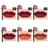 Xshuai Lot de 66couleurs professionnel crayon à lèvres longue durée hydrater Waterproof crayon à lèvres Stick Crayon Maquillage pour femmes filles, 01#-06#, Length: 12.8x 0.8cm (Length x Diameter)