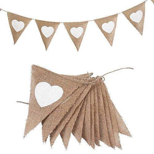 Cdet Dekoration Zubehör Hochzeit/Geburtstag/Karneval/Party/Feier Flagge Dekoration Girlande Dekoration Party Zubehör Dekorationen Party Requisiten (Love)