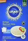 Davert Bio Basmati Reis im Kochbeutel, 2 Beutel, 250 g
