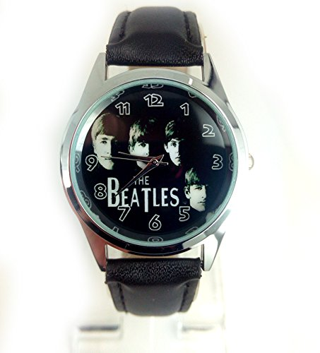 Products Just4U The Beatles Picture Dial Quartz Watch with analogue display and Real Leather strap