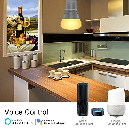 4 st cke smart led lampe sparin wifi gl hbirne f r amazon alexa google home e27 7w. Black Bedroom Furniture Sets. Home Design Ideas
