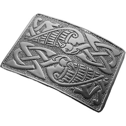 Tartanista Belt buckle for luxury Scottish kilt - Celtic bird design - Chrome plated