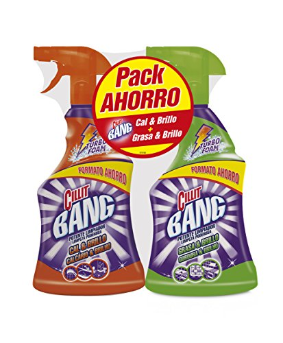 PACK Cillit Bang Potente Limpiador Spray Grasa & Brillo 750 ml + Cillit Bang Potente Limpiador Spray Antical 750 ml