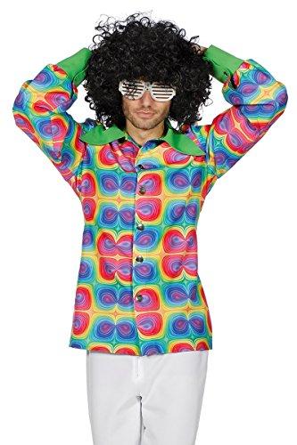 Hippie Kostüm Herren Hemd Flower Power 70er 60er