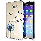 Samsung Galaxy A5 2016 Coque Protection de NICA, Housse Motif Silicone Portable Premium Case Cover Transparente, Ultra-Fine Souple Gel Slim Bumper Etui pour A5-16, Designs:Dandelion Bleu